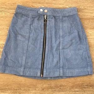 Corduroy blue skirt